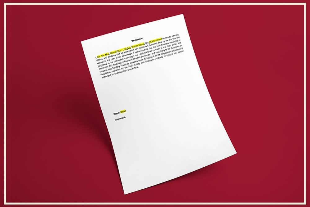 FSMS Declaration Format