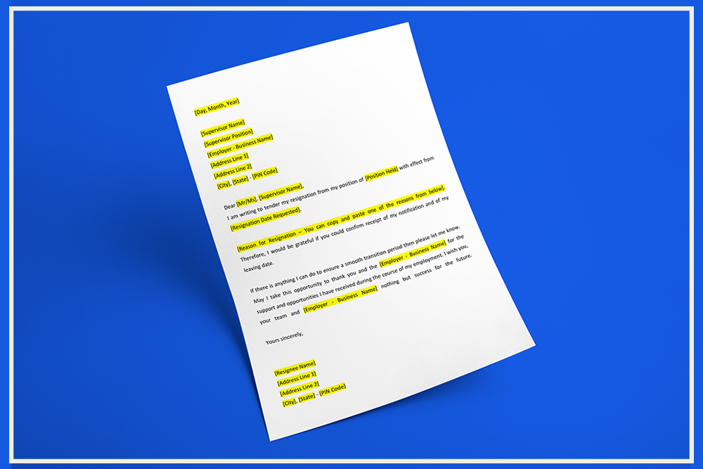 Resignation letter format indiafilings document center resignation letter format spiritdancerdesigns Gallery