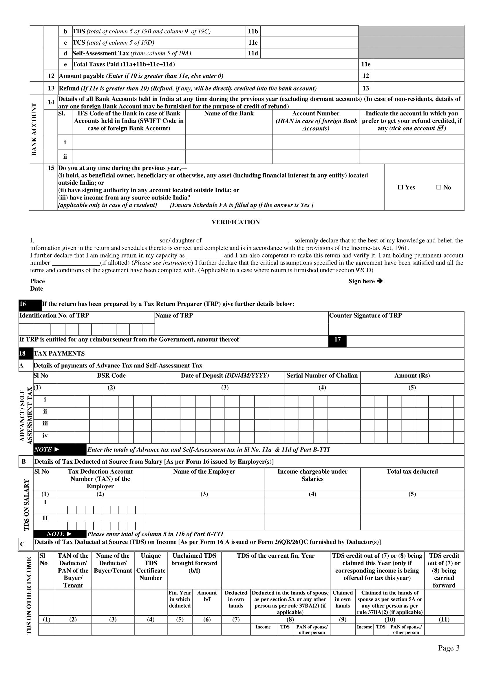 income tax return form 2