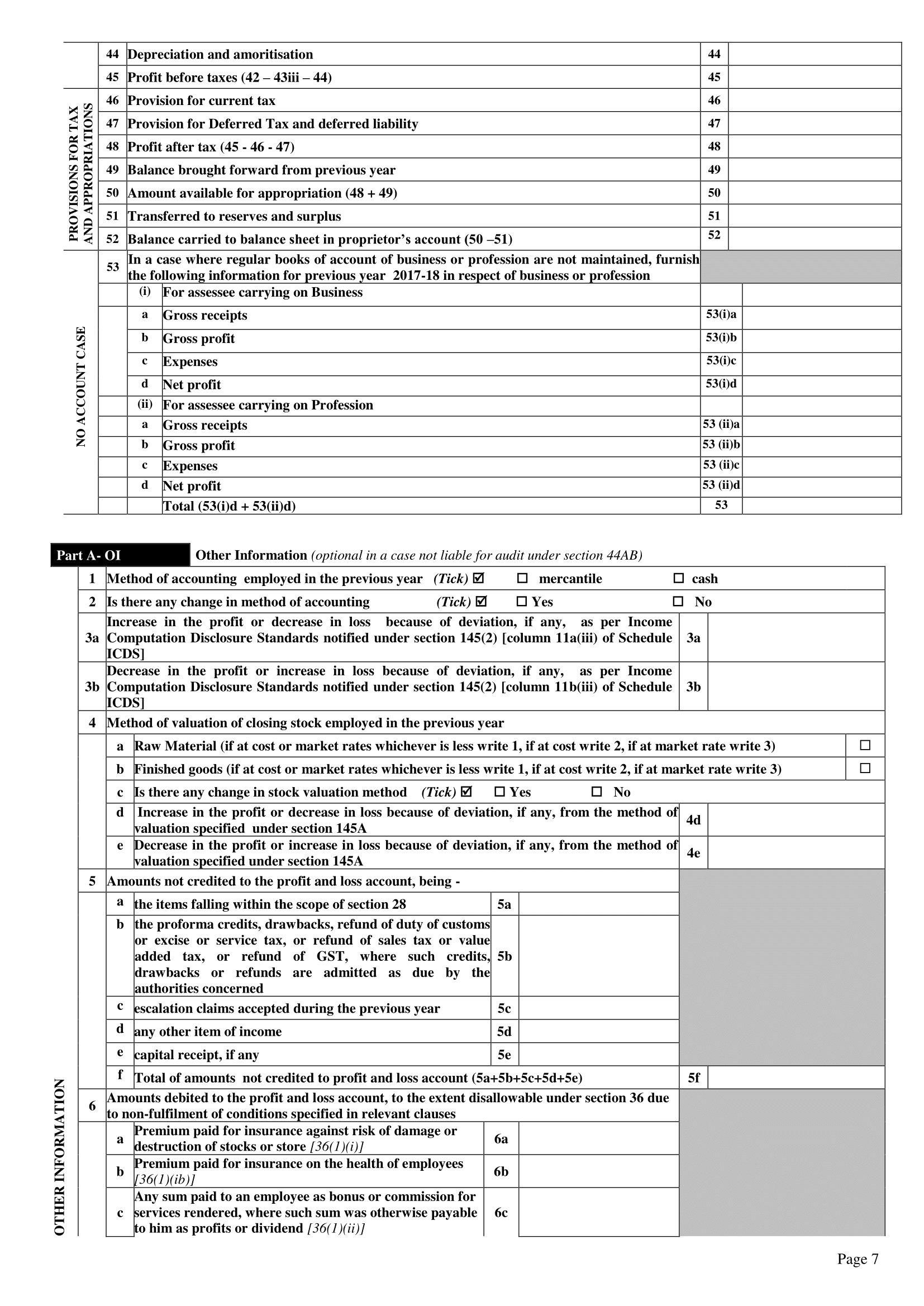 form used to file individual income tax return