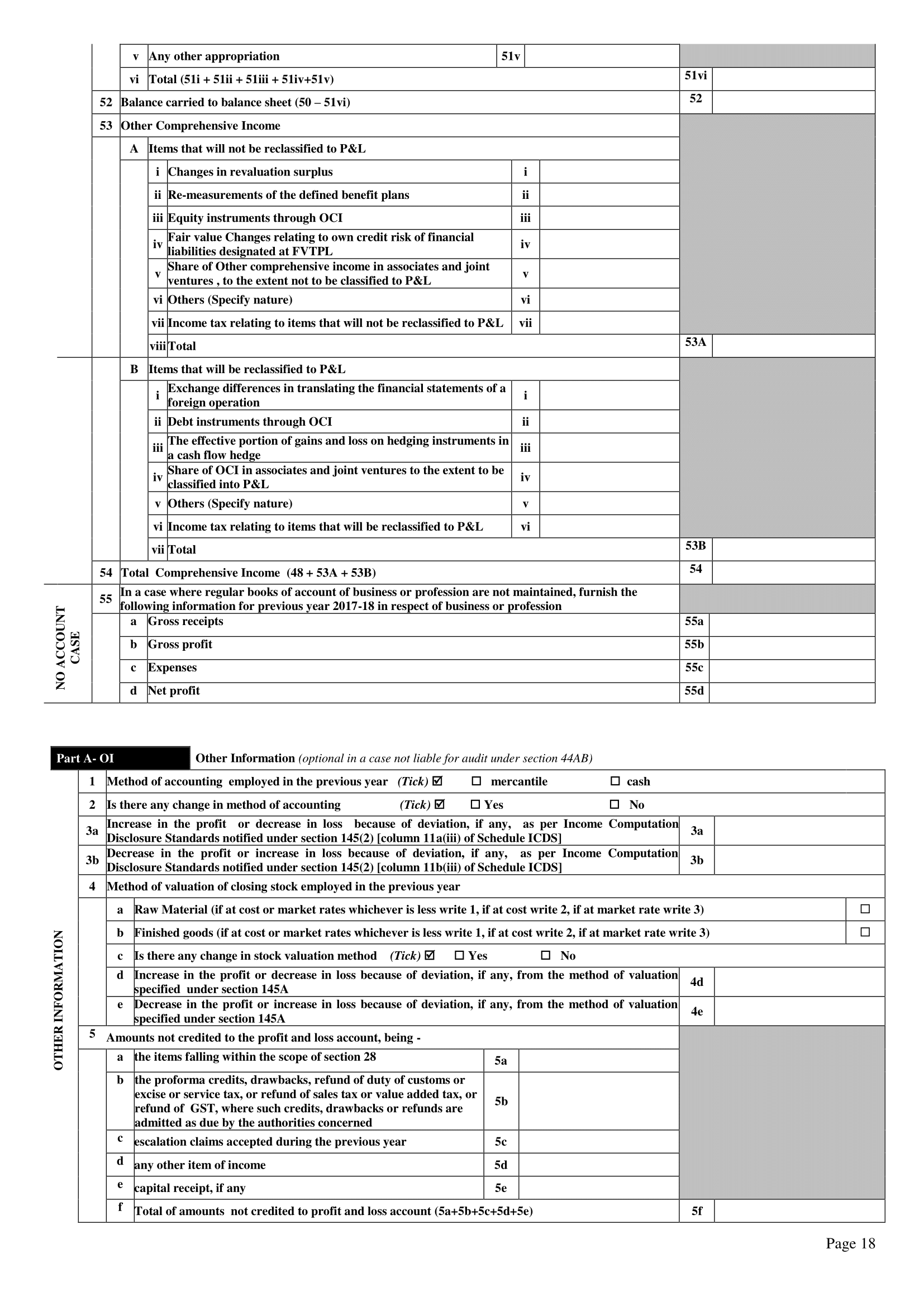 forms for filing income tax return