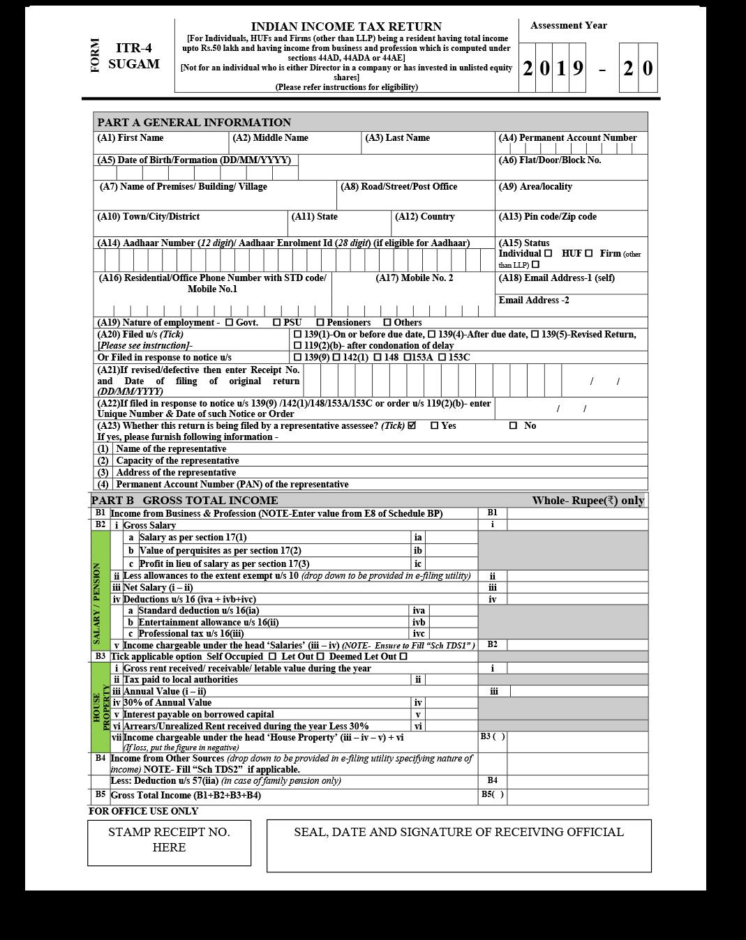 ITR 4 Form