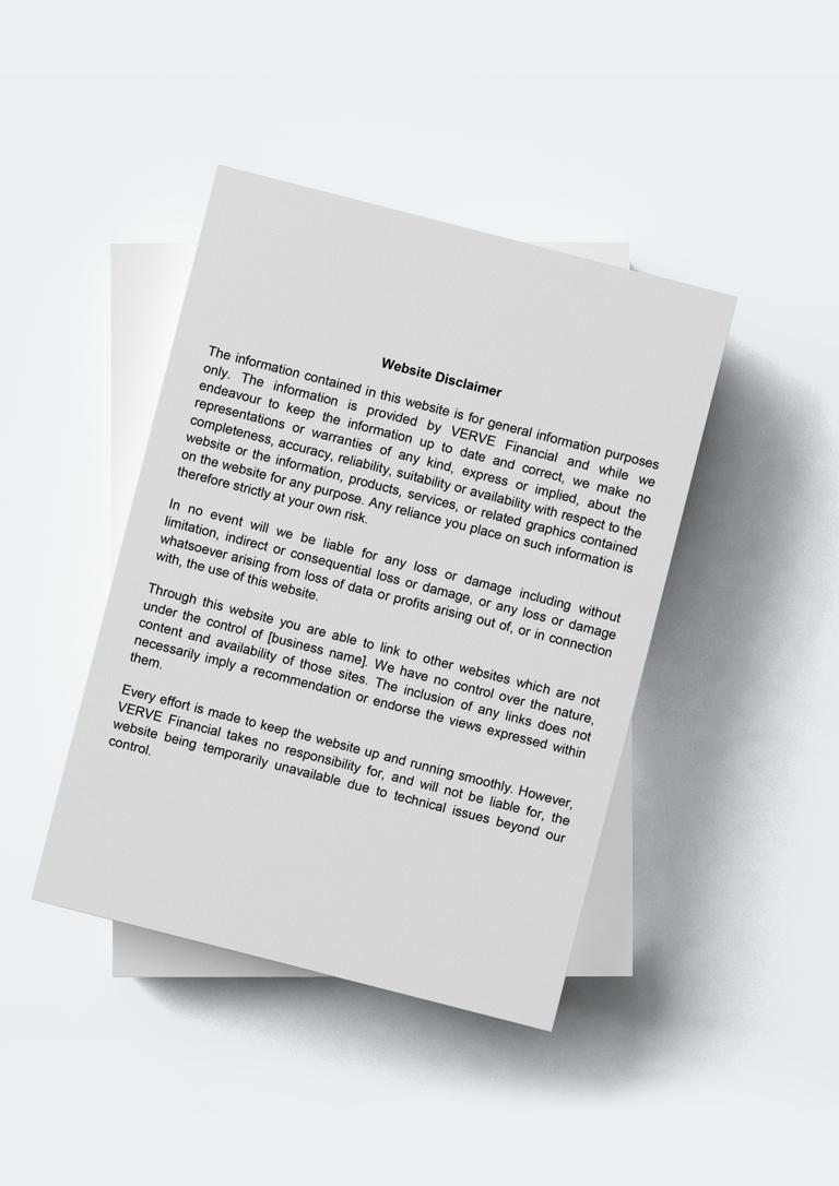 Website Disclaimer Format - Website disclaimer template