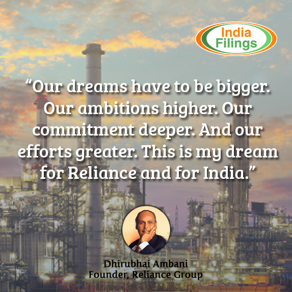 Our dreams have to be bigger. Our ambitions higher. Our commitment deeper. And our efforts greater. This is my dream for Reliance and for India, Dhirubhai Ambani Quote
