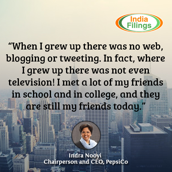 When I grew up there was no web, blogging or tweeting. In fact, where I grew up there was not even television! I met a lot of my friends in school and in college, and they are still my friends today, Indra Nooyi Quote
