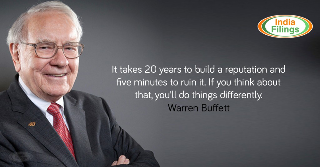 Warren Buffett Quote, Business Reputation