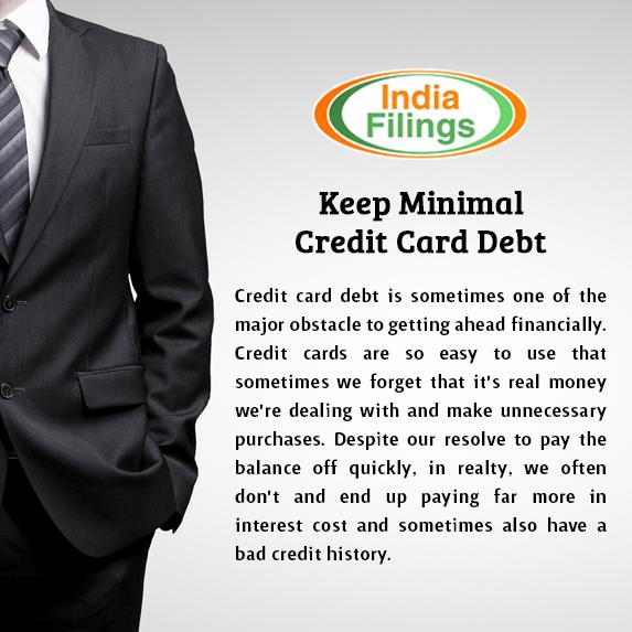 Keep Minimal Credit Card Debt