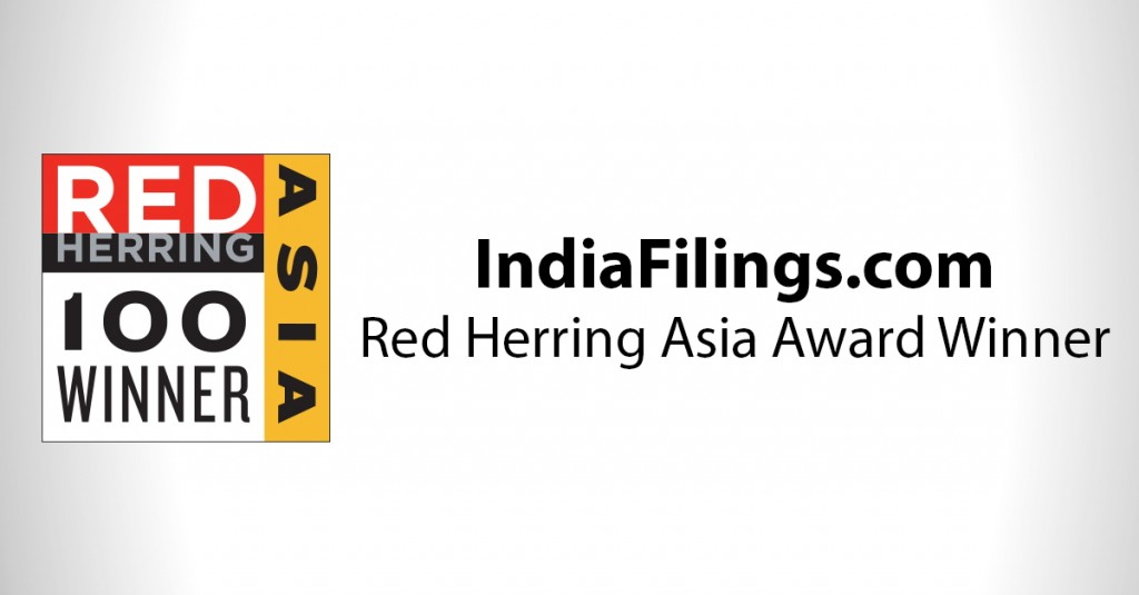 IndiaFilings - Red Herring Award