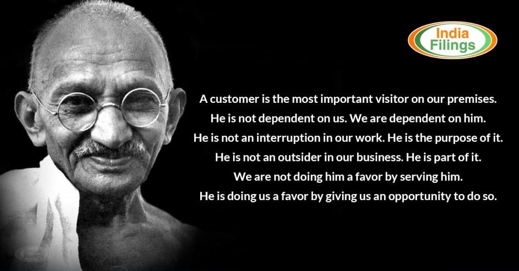 Mahatma Gandhi Quote, Customer Service