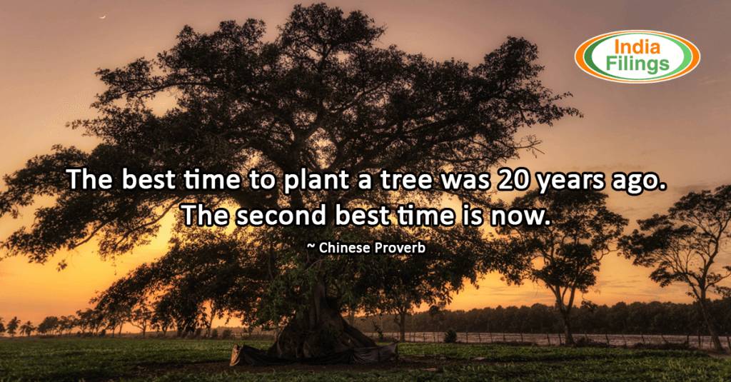 """The best time to plant a tree was 20 years ago. The second best time is now."" – Chinese Proverb"