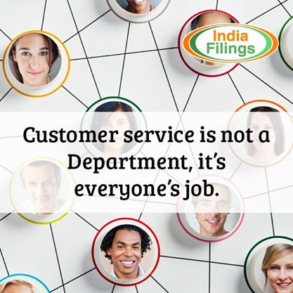 Customer service is not a department, it's everyone's job.