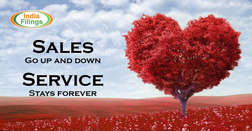 """Sales go up and down, service stays forever"". Jason Goldberg"