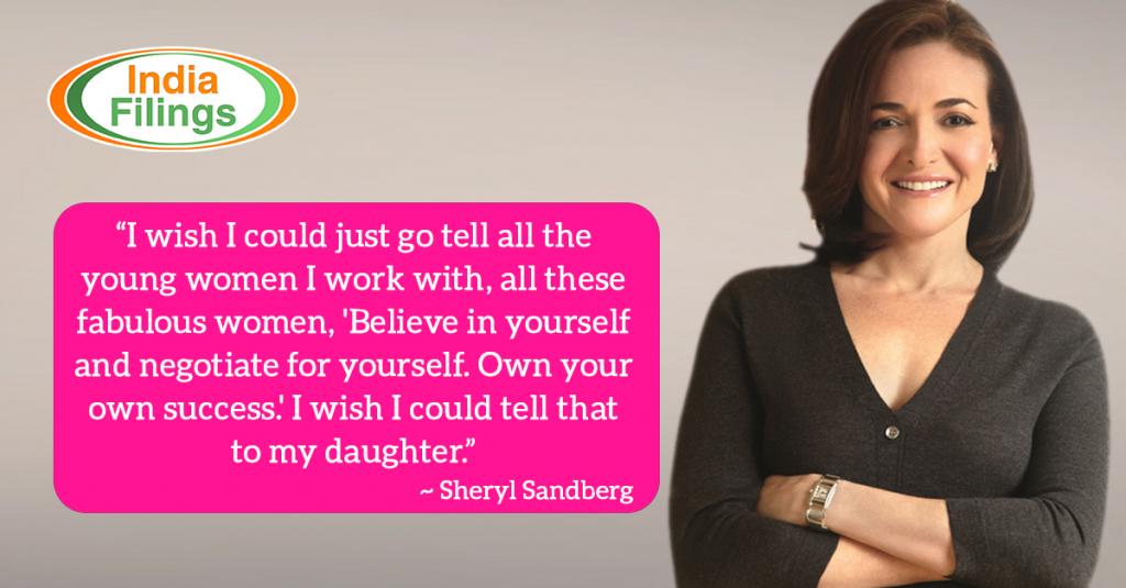 Sheryl Sandberg Quote on Women Entrepreneurship