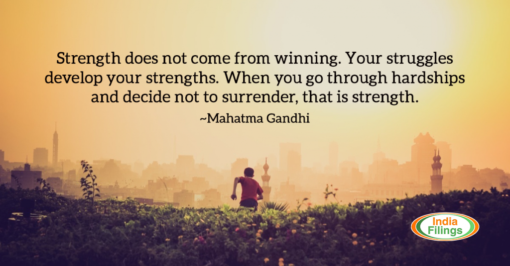 Mahatma Gandhi Quotes Strength Struggles