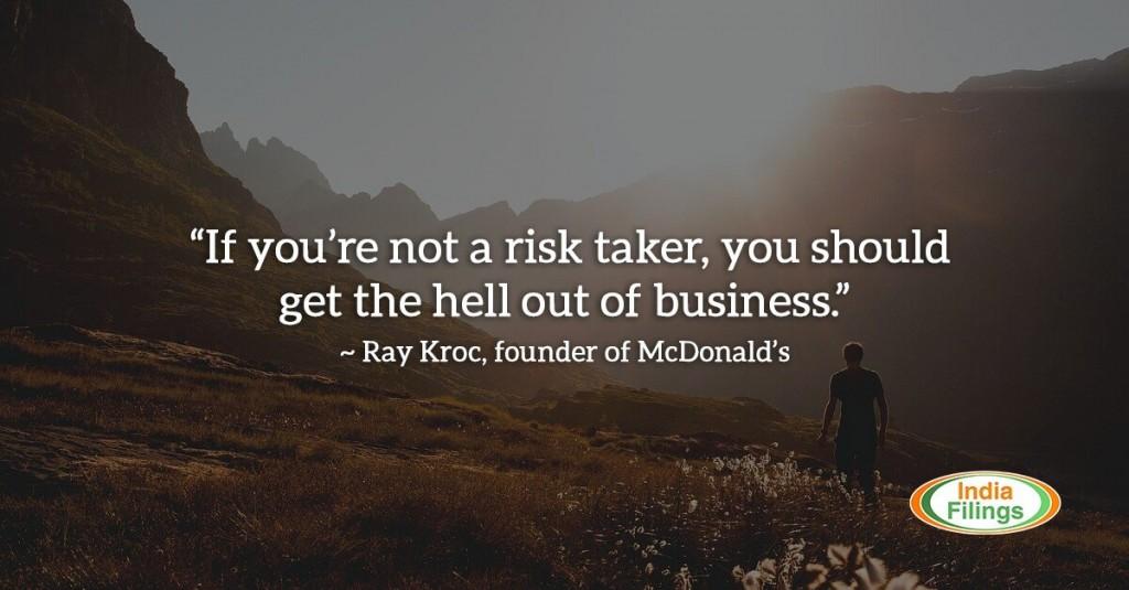 Ray Kroc McDonalds Founder on Risk Taking