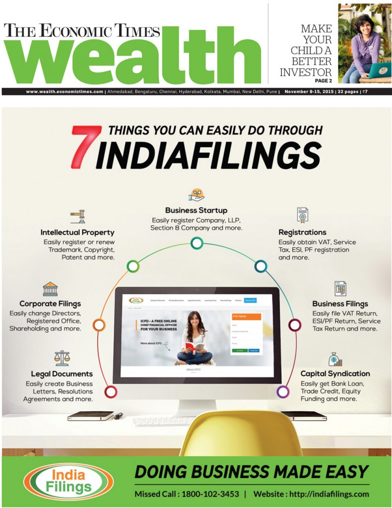 ET Wealth 7 things you can-easily do through IndiaFilings