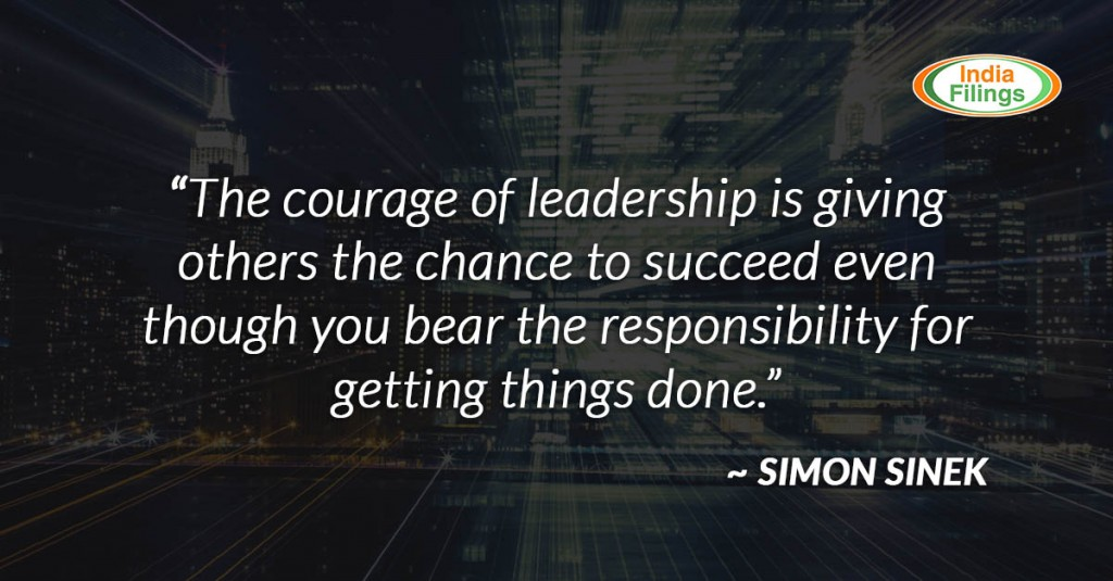 The courage of leadership is giving others the chance to succeed even though you bear the responsibility if they fail