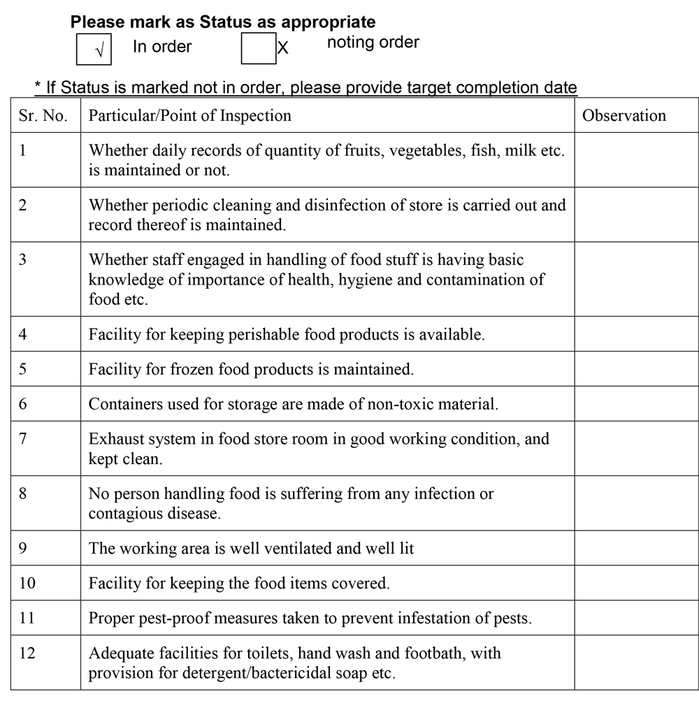Sample FSMS Checklist