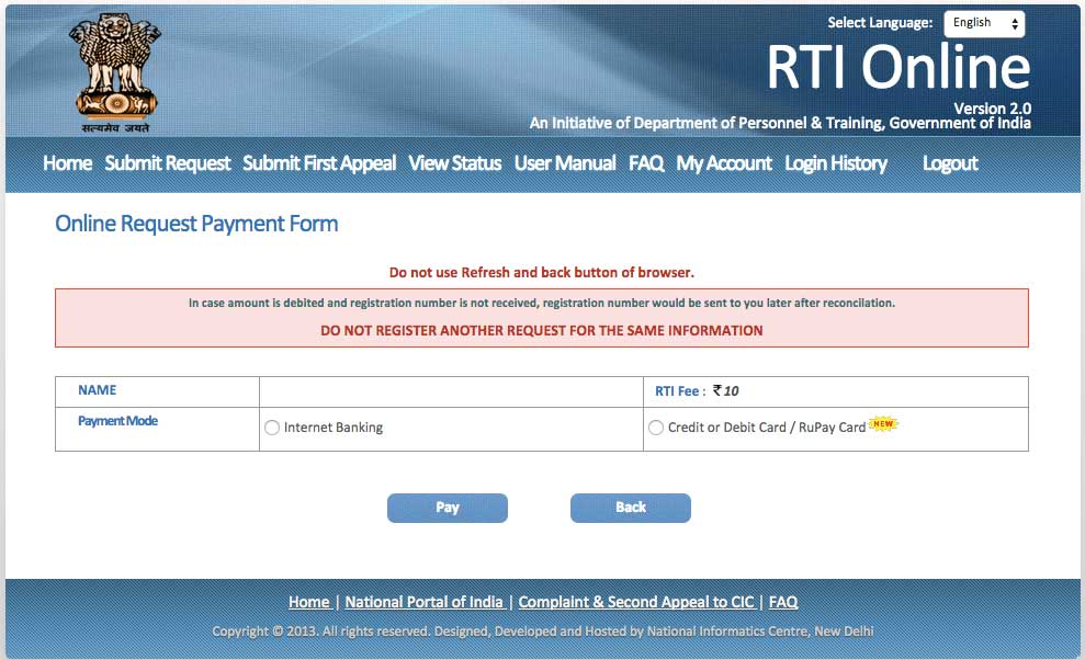 How-to-File-RTI-Online-payment-Form