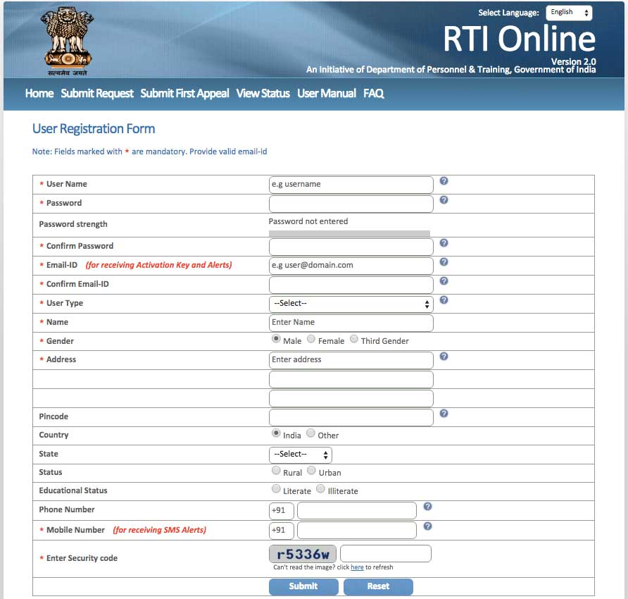 How-to-File-RTI-Online-Registration-Form