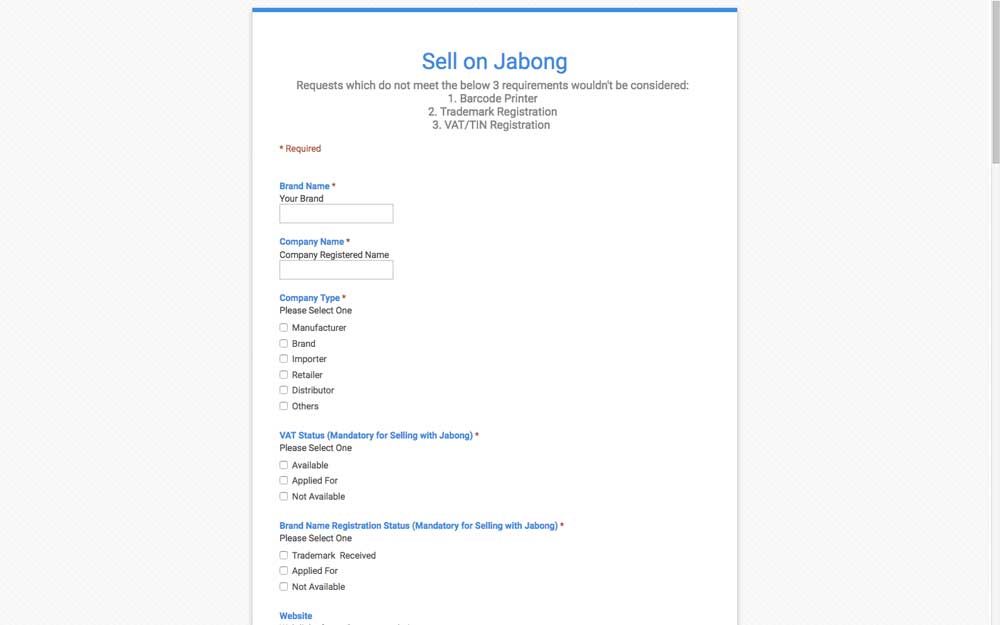 Sell on Jabong