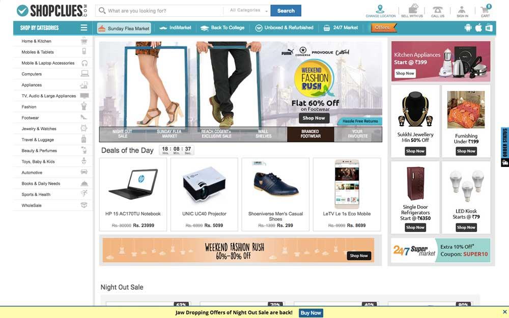 Shopclues Seller Dashboard