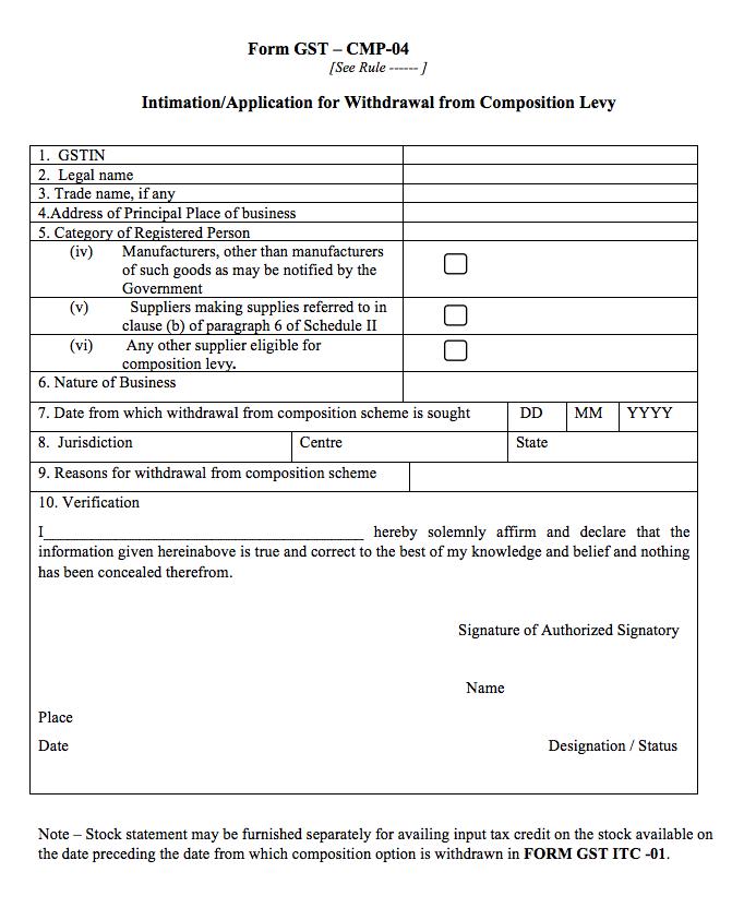 Form GST CMP-04