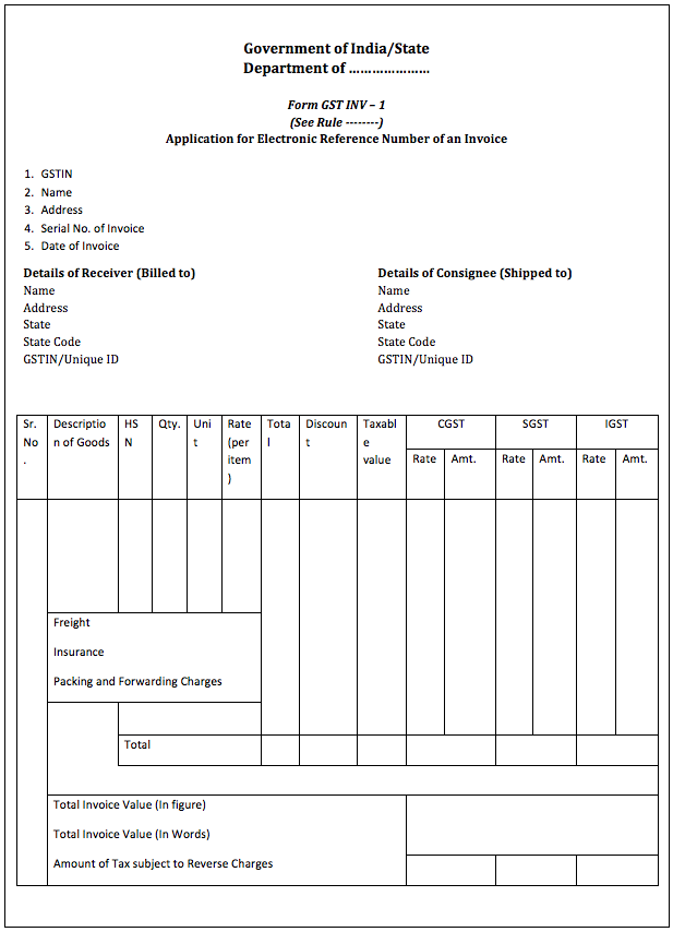invoice template no gst  GST Invoice Format and Rules - Sample Tax Invoice - IndiaFilings