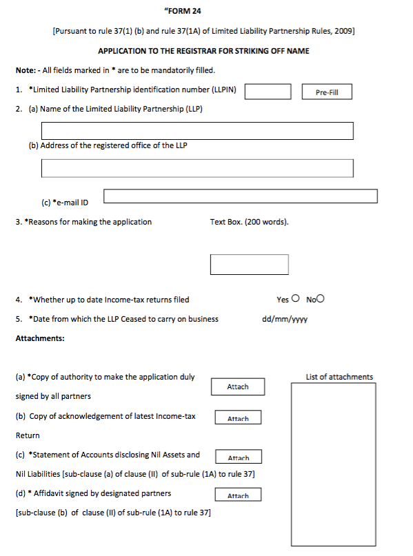 LLP Form 24 - Easily Close a LLP - IndiaFilings