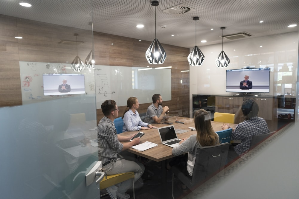 Company Board Meeting through Video Conference