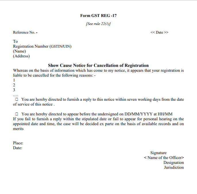 Gstr 3a notice for not filing gst return indiafilings sample gst reg 17 spiritdancerdesigns