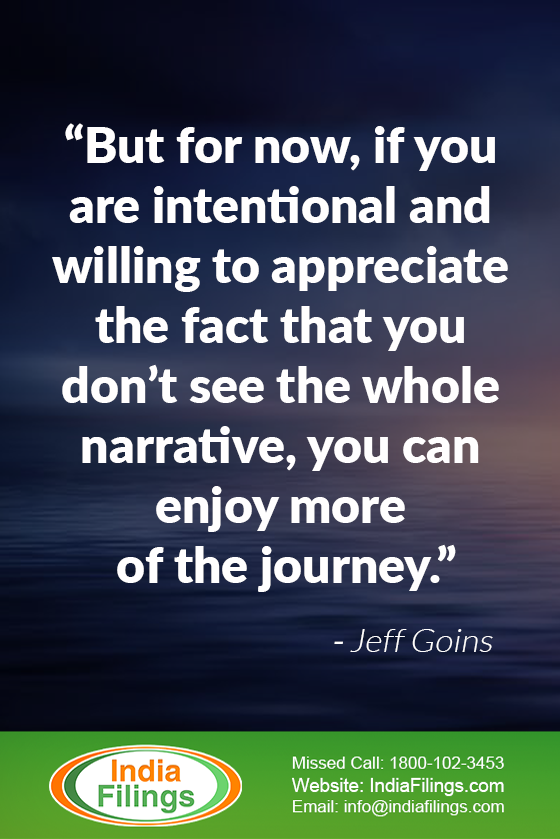 """But for now, if you are intentional and willing to appreciate the fact that you don't see the whole narrative, you can enjoy more of the journey."""