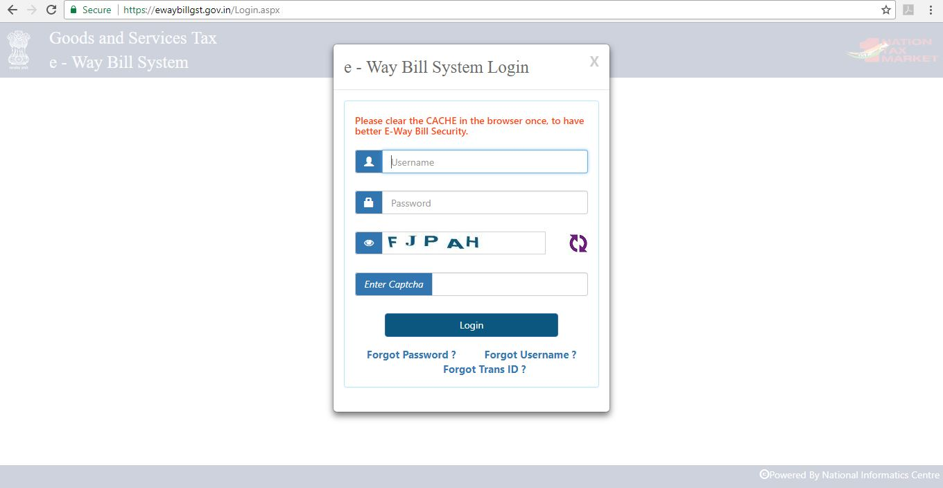 Step-1 - E-Way Bill Portal