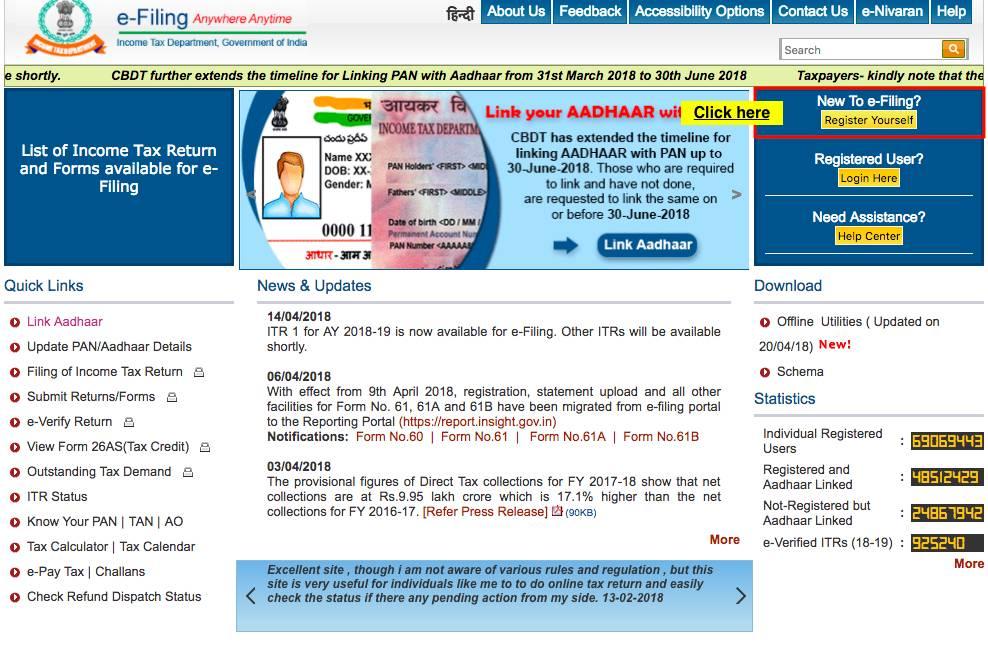 Income Tax E-Filing Registration