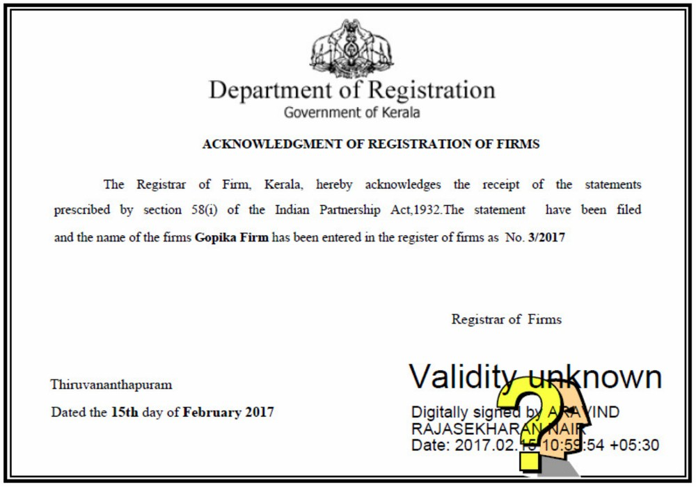 Kerala-Partnership-Firm-Registration-Certificate