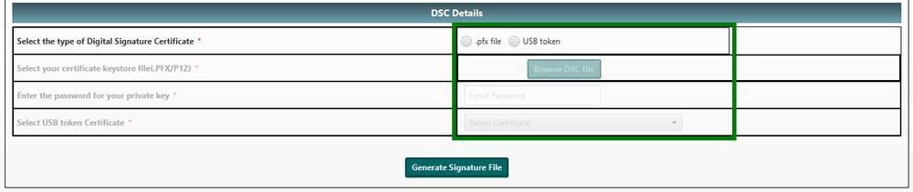 DSC Utility - Income Tax E-Filing - IndiaFilings
