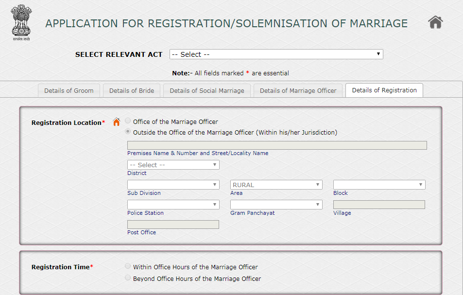 Marriage-Registration-Procedure-in-West-Bengal-Registration-Details
