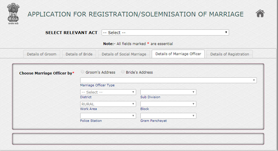 Marriage-Registration-Procedure-in-West-Bengal-Officer-Details