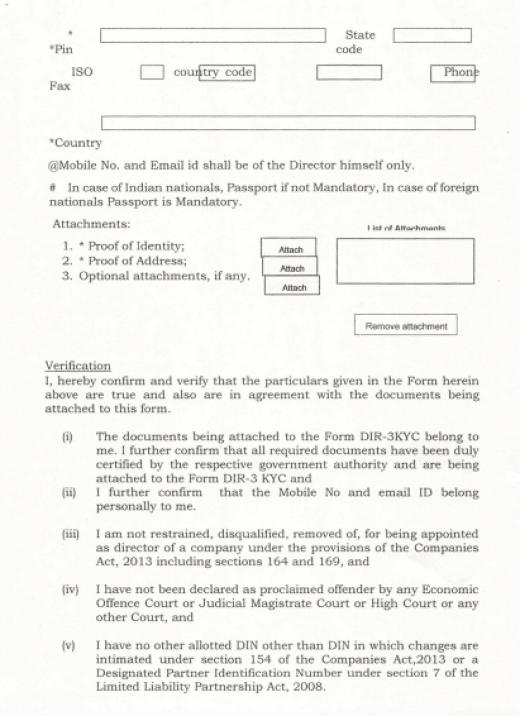DIR-3 eKYC Form - Page 3