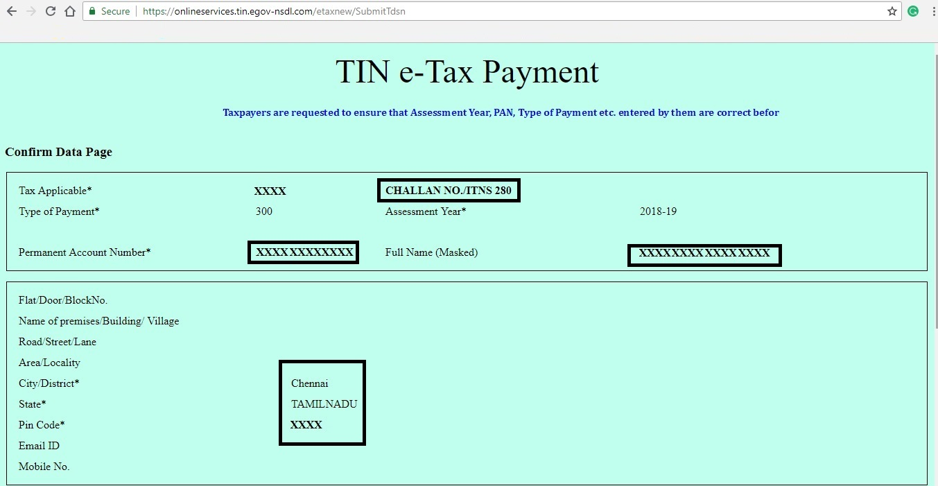 Confirmation-Screen-of-Tax -Payment
