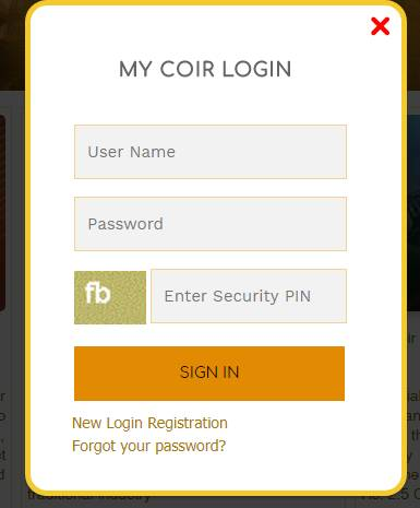 coir application form login