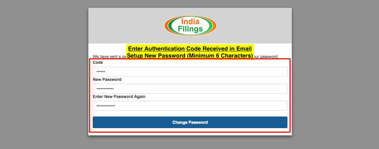 iCFO Password - Step 4
