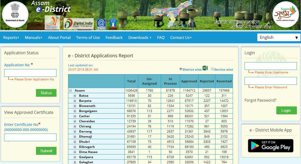 Assam-Domicile-Certificate-View-Status