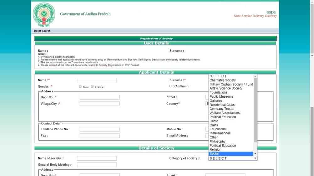 Society Registration in Andhra Pradesh - IndiaFilings