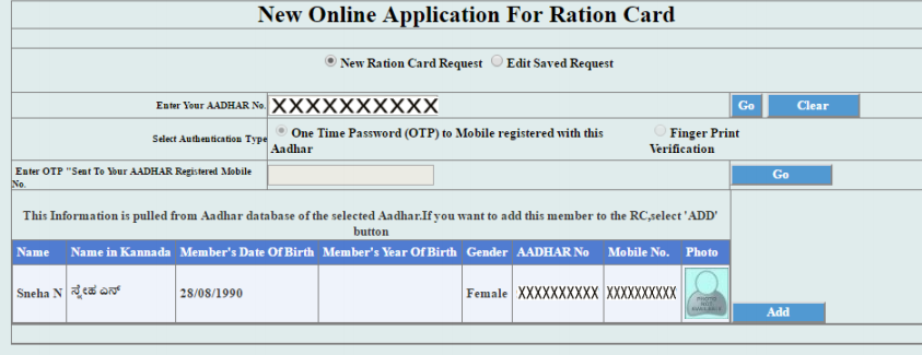 Step 8-Karnataka-Ration-Card