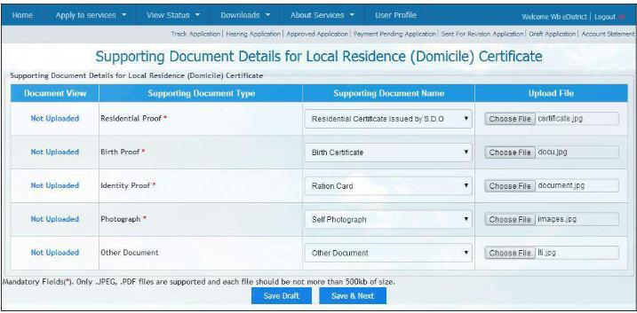 West Bengal Domicile Certificate - Application Procedure