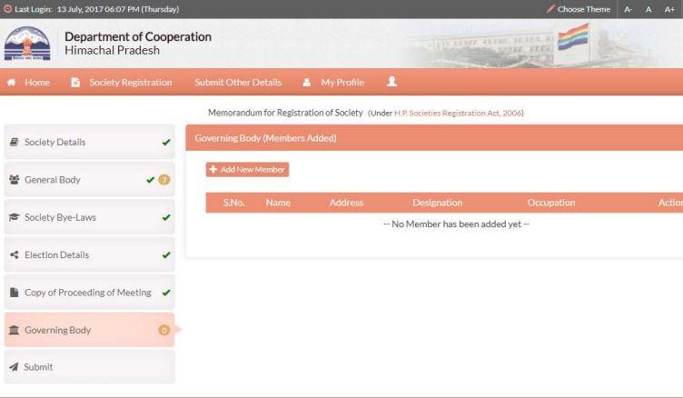 Himachal-Pradesh-Society-Registration-Add-New-Member