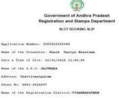 Andhra Pradesh Property Registration Procedure Stamp Duty