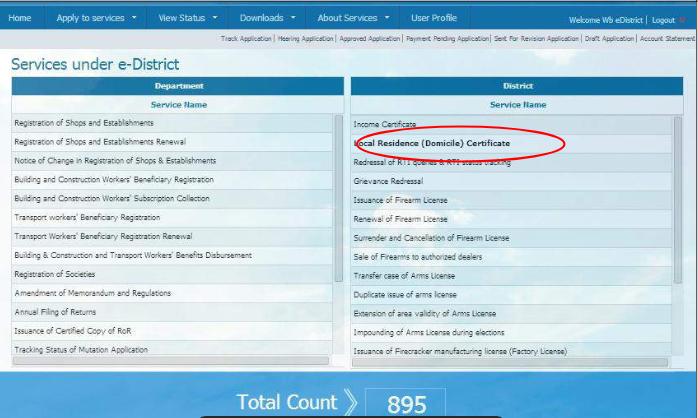West-Bengal-Domicile-Certificate-e-Services