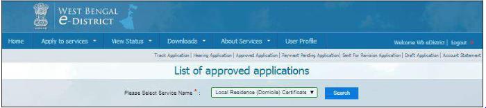 West Bengal Domicile Certificate - Application Procedure - IndiaFilings